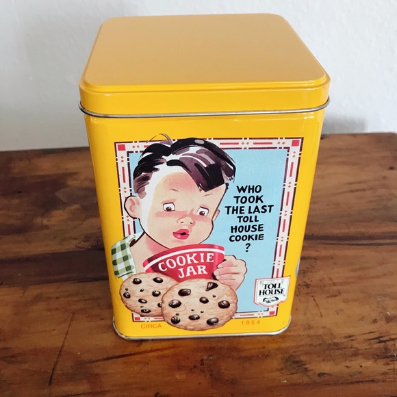 Vintage Other - Cookie thief tin
